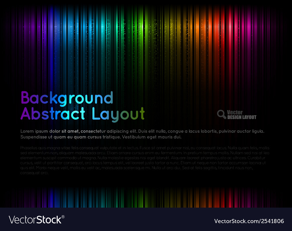 Abstract rainbow layout vector | Price: 1 Credit (USD $1)