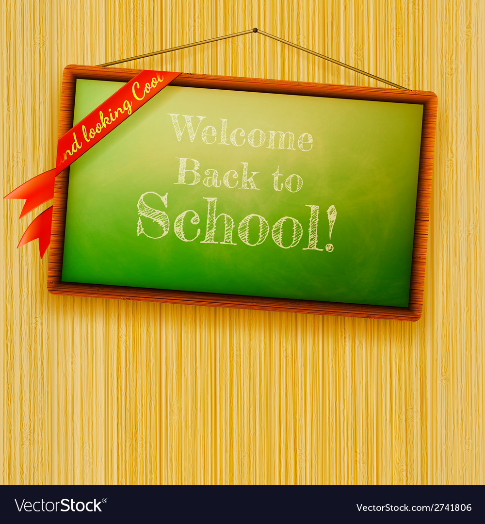 Back to school written with chalk eps10 vector | Price: 1 Credit (USD $1)