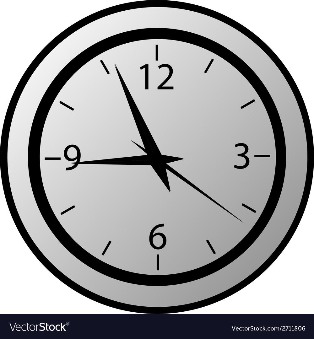 Clock button vector | Price: 1 Credit (USD $1)