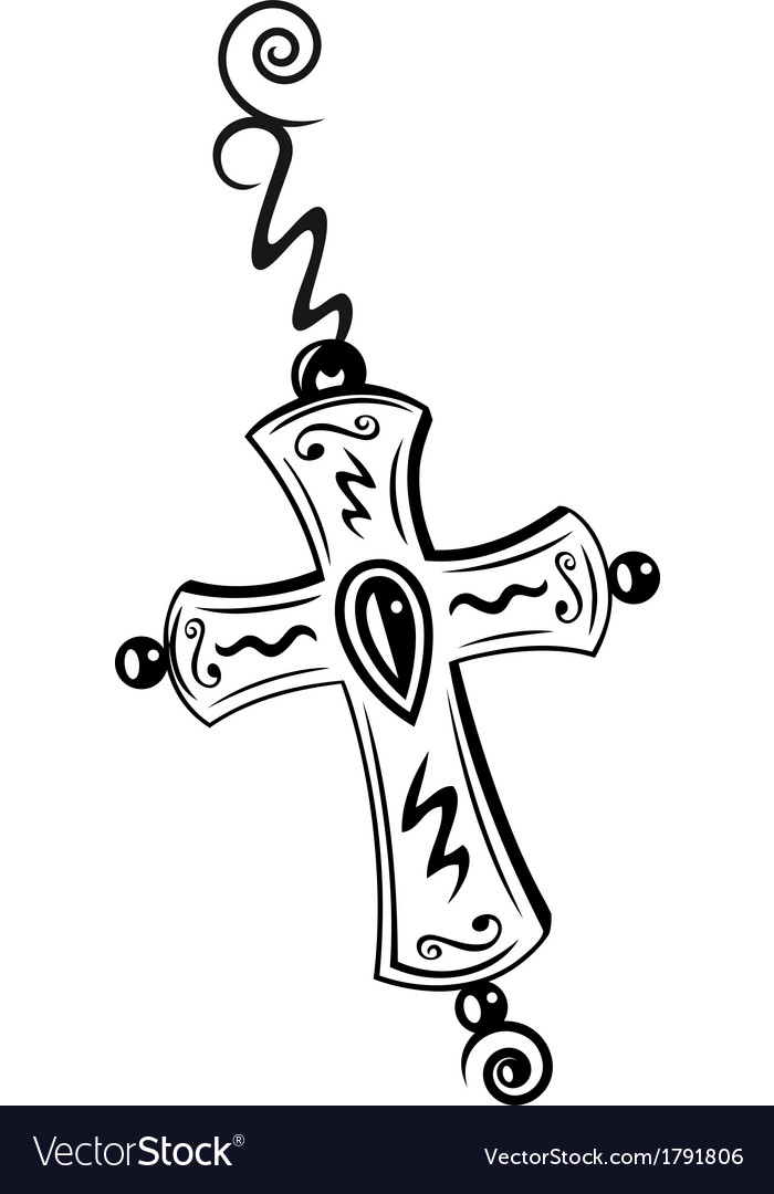 Cross crucifix vector | Price: 1 Credit (USD $1)