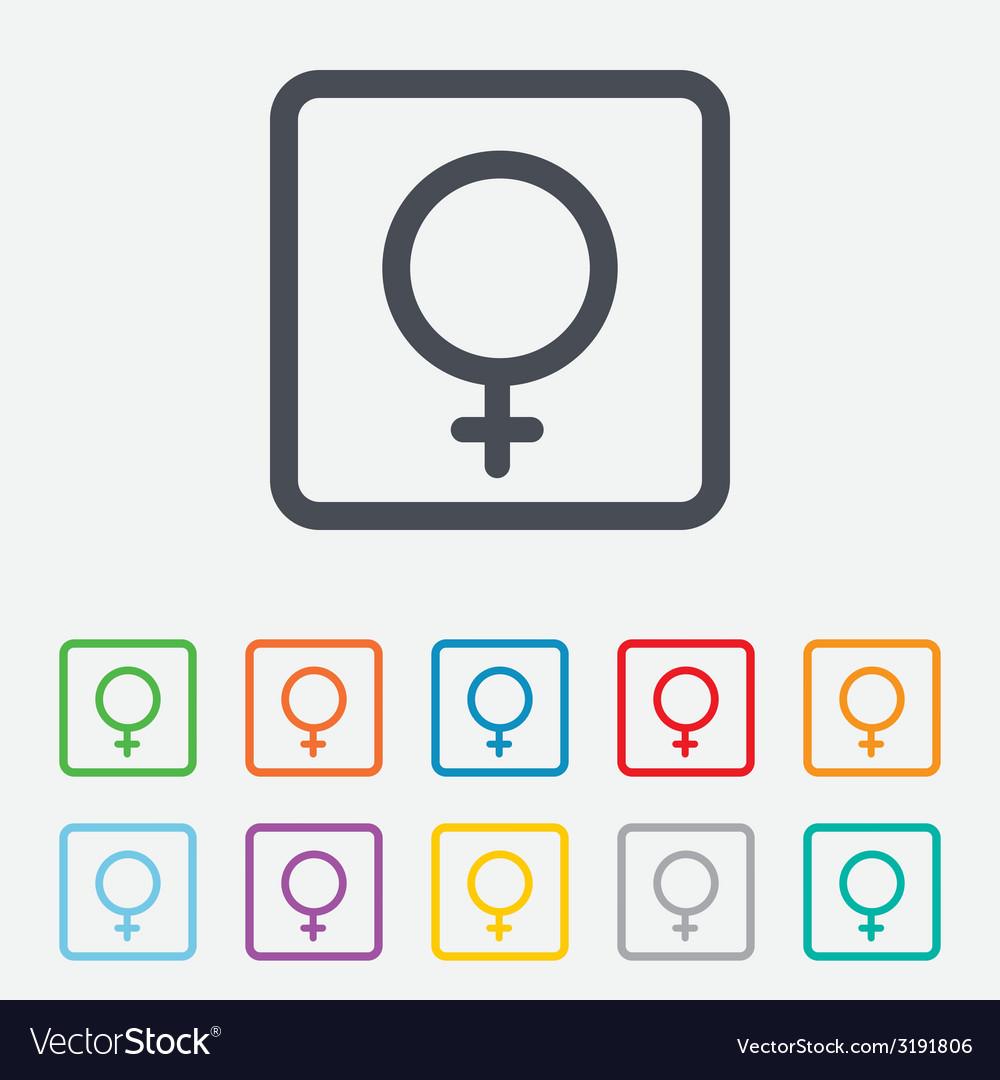Female sign icon woman sex button vector | Price: 1 Credit (USD $1)