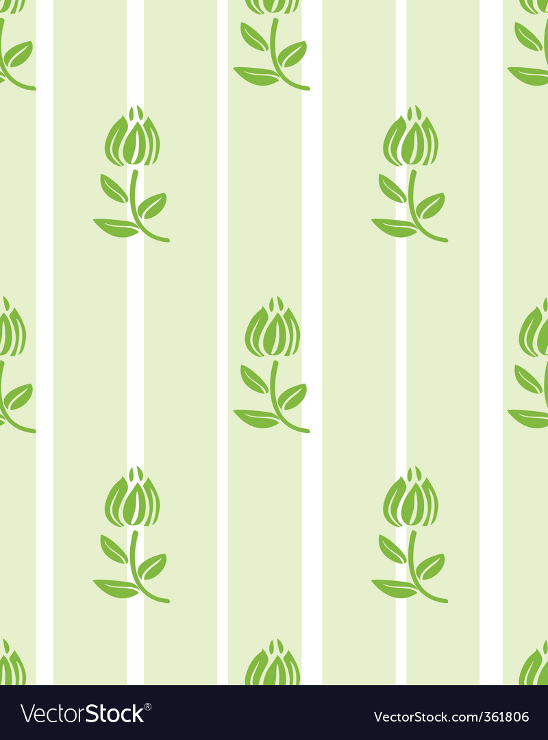 Floral light green floral wallpaper vector | Price: 1 Credit (USD $1)