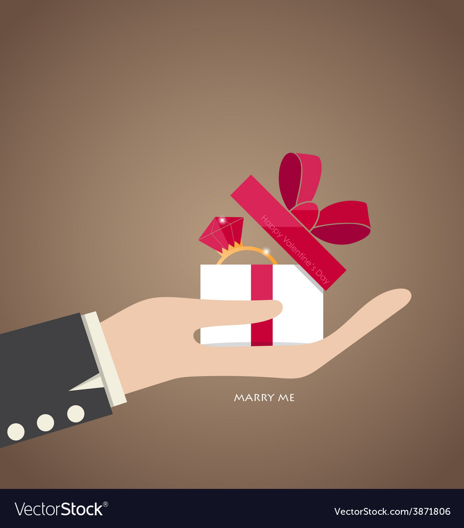 Happy valentines day hand holding valentines day vector | Price: 1 Credit (USD $1)
