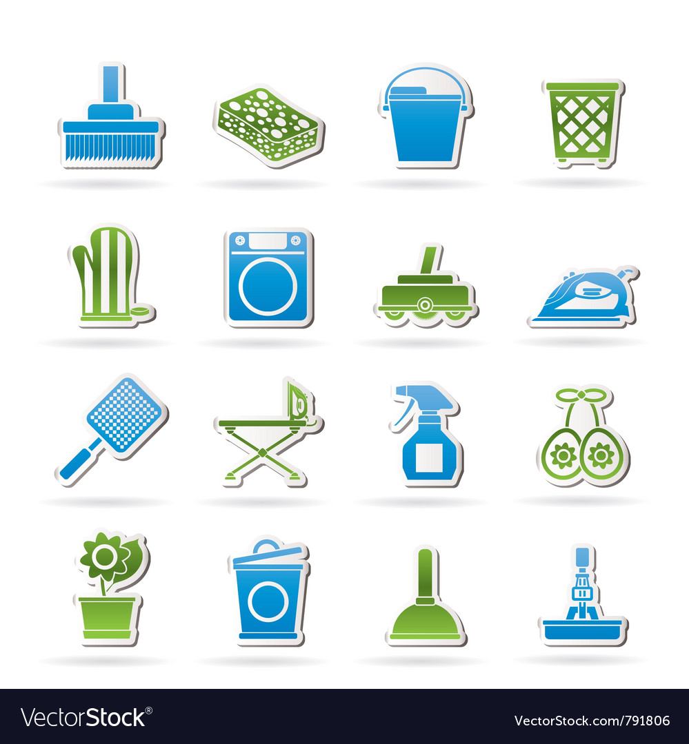 Household objects and tools icons vector | Price: 1 Credit (USD $1)