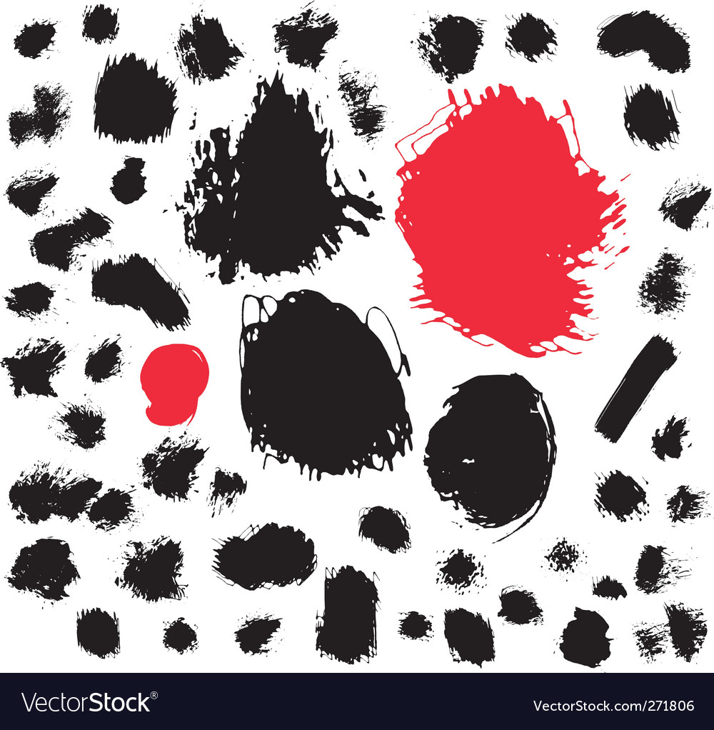 Paint brush spots vector | Price: 1 Credit (USD $1)