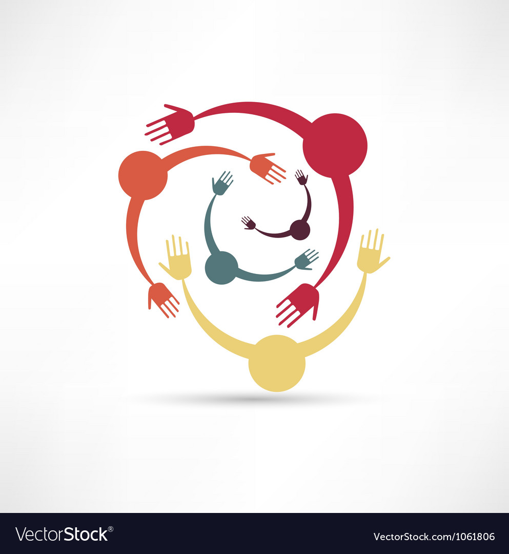 People connected symbol vector | Price: 1 Credit (USD $1)
