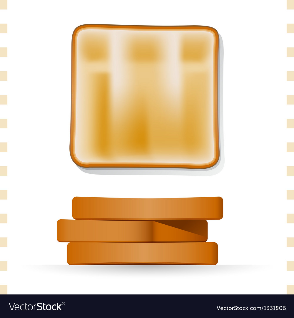 Toast icons top and side view vector | Price: 1 Credit (USD $1)
