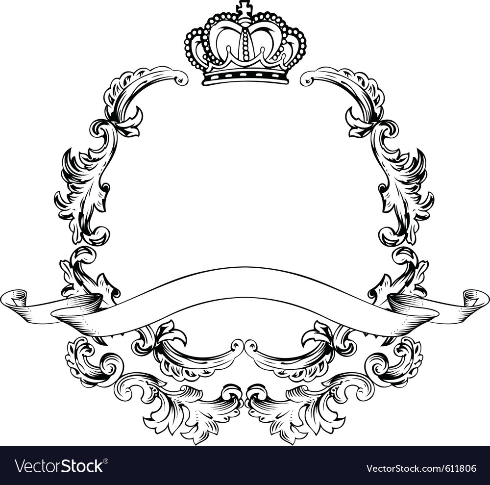 Vintage aluminum frame vector | Price: 1 Credit (USD $1)