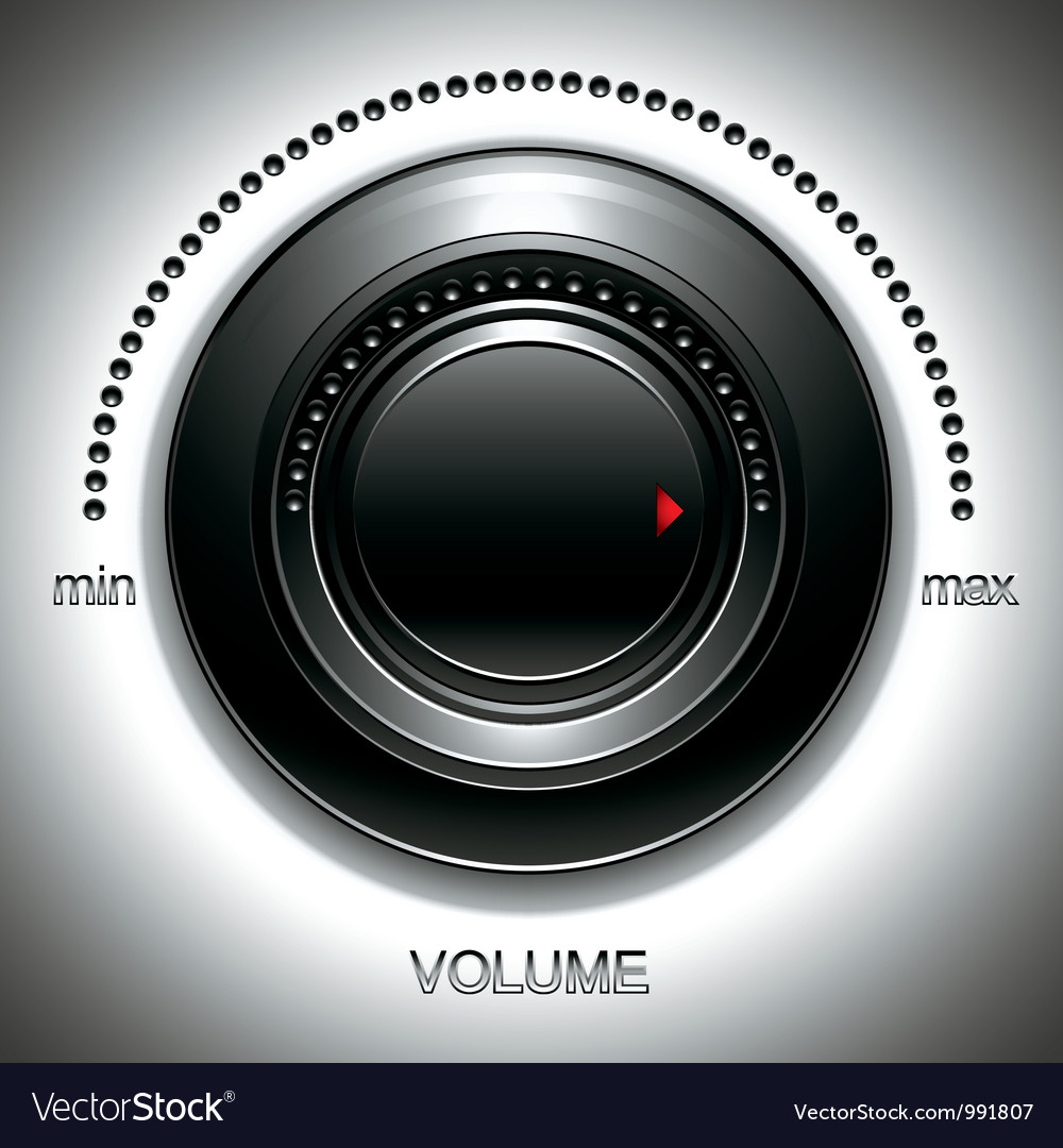 Black volume knob vector | Price: 1 Credit (USD $1)