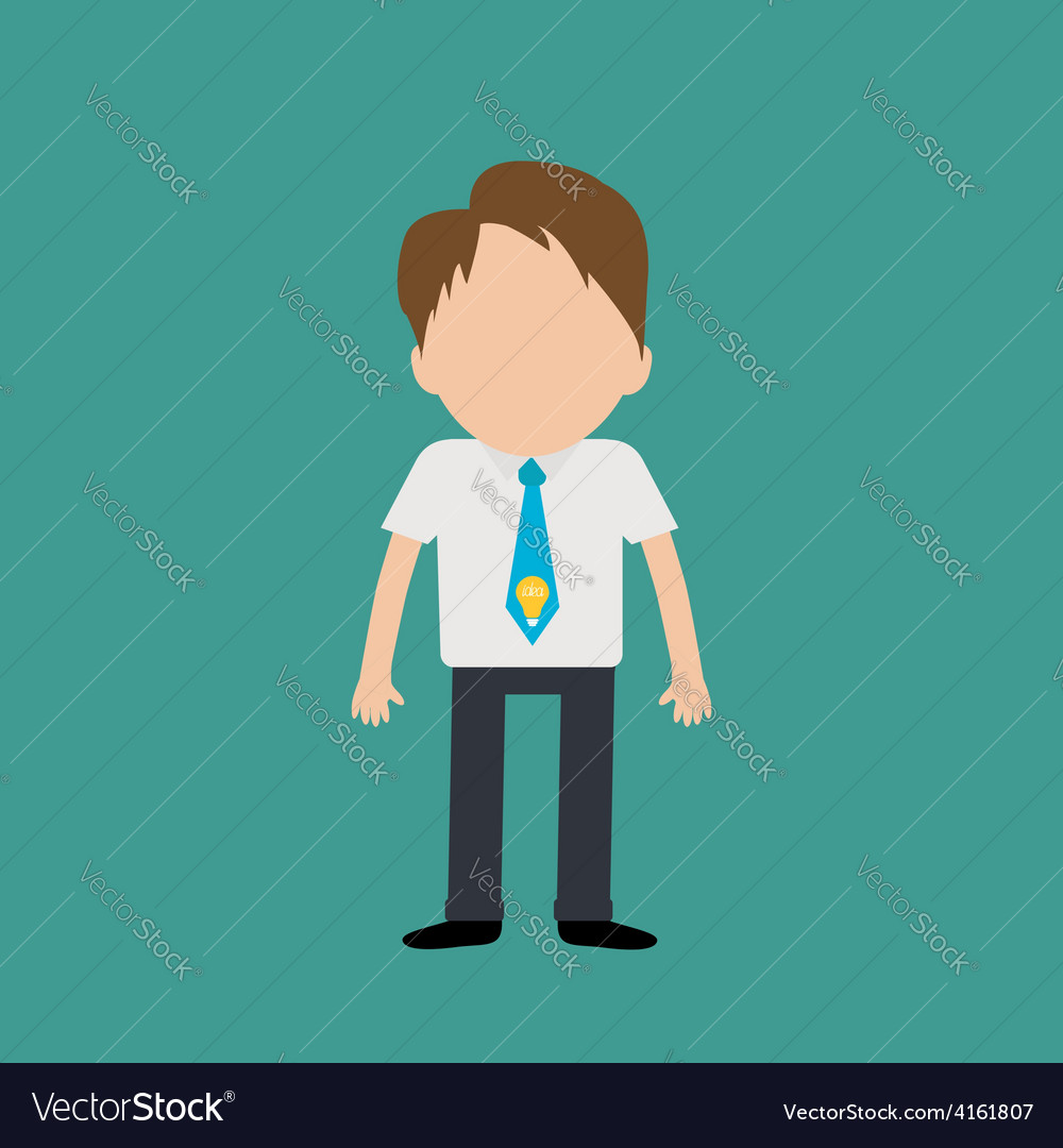 Businessman wearing a shirt neck tie with light vector   Price: 1 Credit (USD $1)