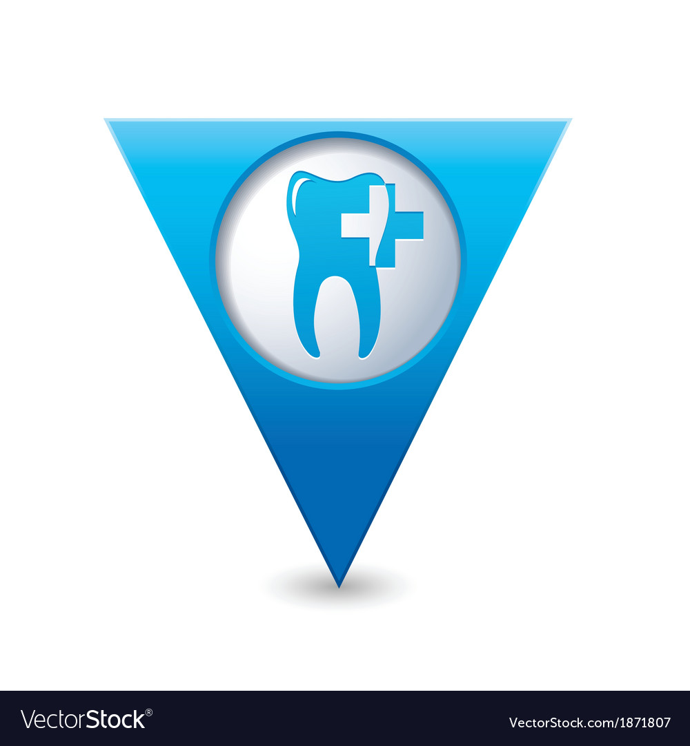 Dental clinic icon pointer blue vector | Price: 1 Credit (USD $1)