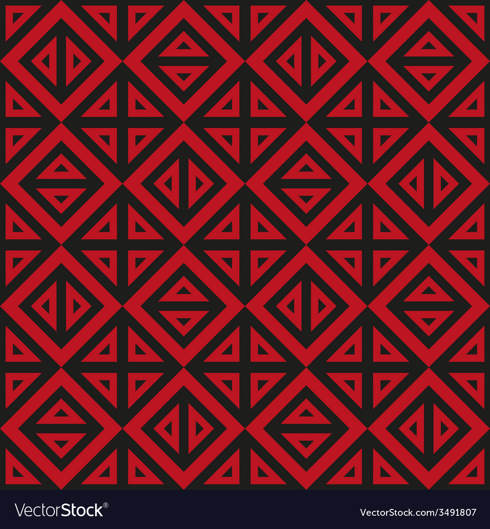 Geometric abstract black and red pattern seamless vector | Price: 1 Credit (USD $1)