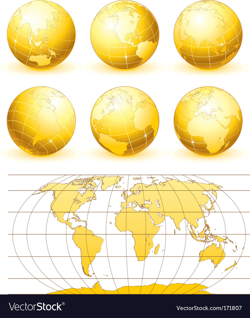 Golden globes set vector | Price: 1 Credit (USD $1)