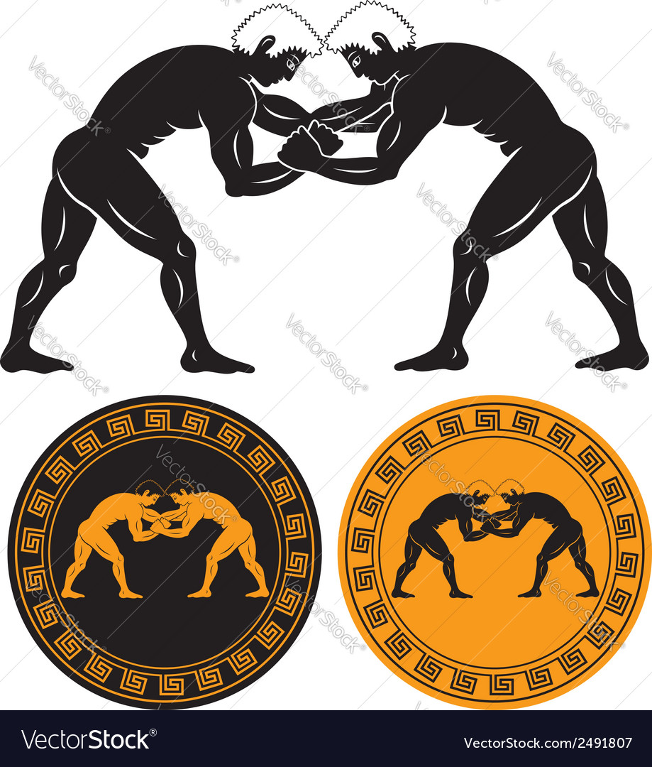 Greco roman wrestling vector | Price: 1 Credit (USD $1)