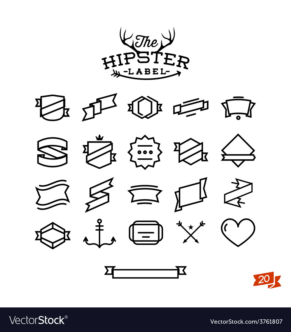 Hipster label stuff part one vector | Price: 1 Credit (USD $1)