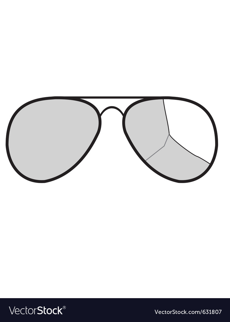 Sunglasses with broken glass vector | Price: 1 Credit (USD $1)