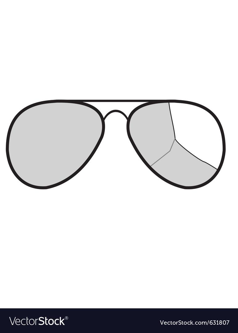 Sunglasses with broken glass vector | Price: 1 Credit (USD $1)