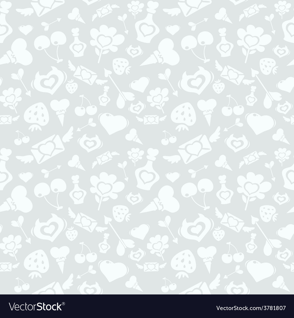 Sweet light valentine pattern vector | Price: 1 Credit (USD $1)