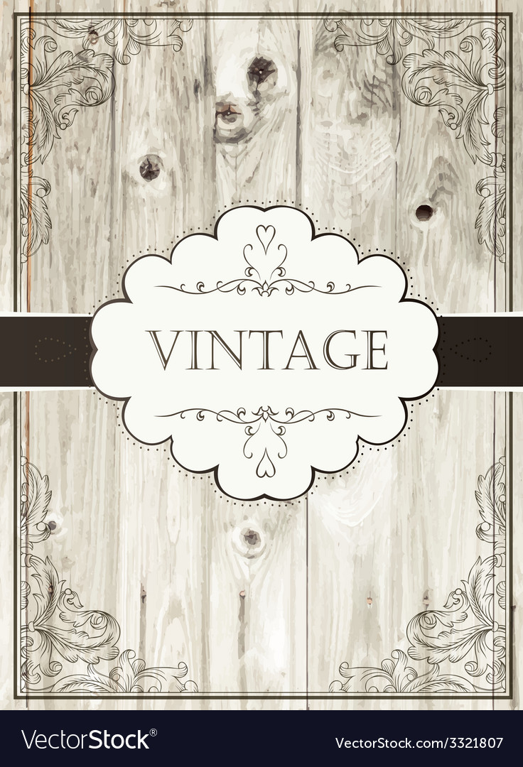 Vintage card template vector | Price: 1 Credit (USD $1)
