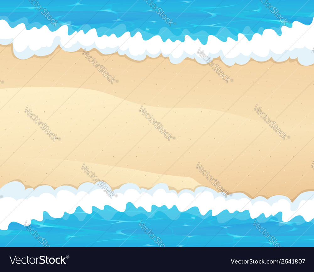 Waves and sand vector | Price: 1 Credit (USD $1)