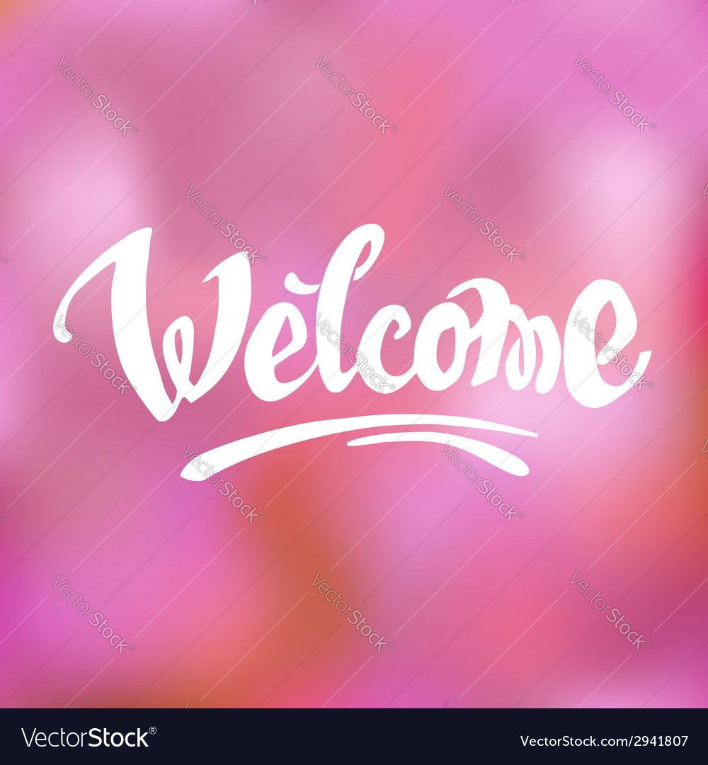 Welcome hand drawn lettering vector | Price: 1 Credit (USD $1)