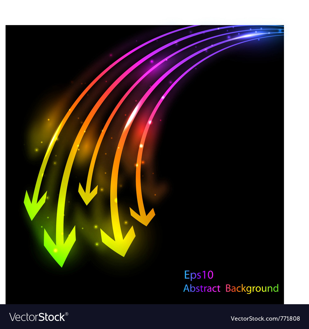 Abstract bright background with arrows vector | Price: 1 Credit (USD $1)