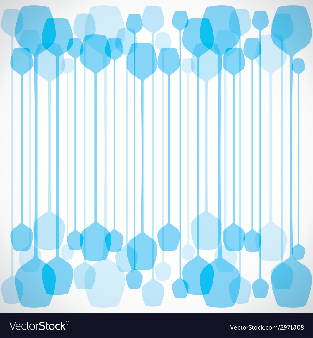 Blue wine glass vector | Price: 1 Credit (USD $1)