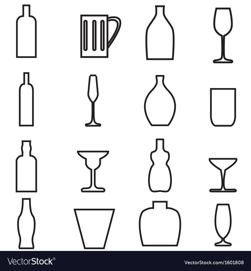 Bottle and glass1 vector   Price: 1 Credit (USD $1)