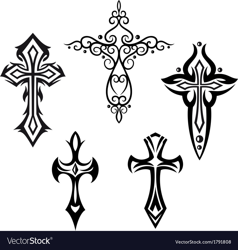 Crosses crucifix vector | Price: 1 Credit (USD $1)