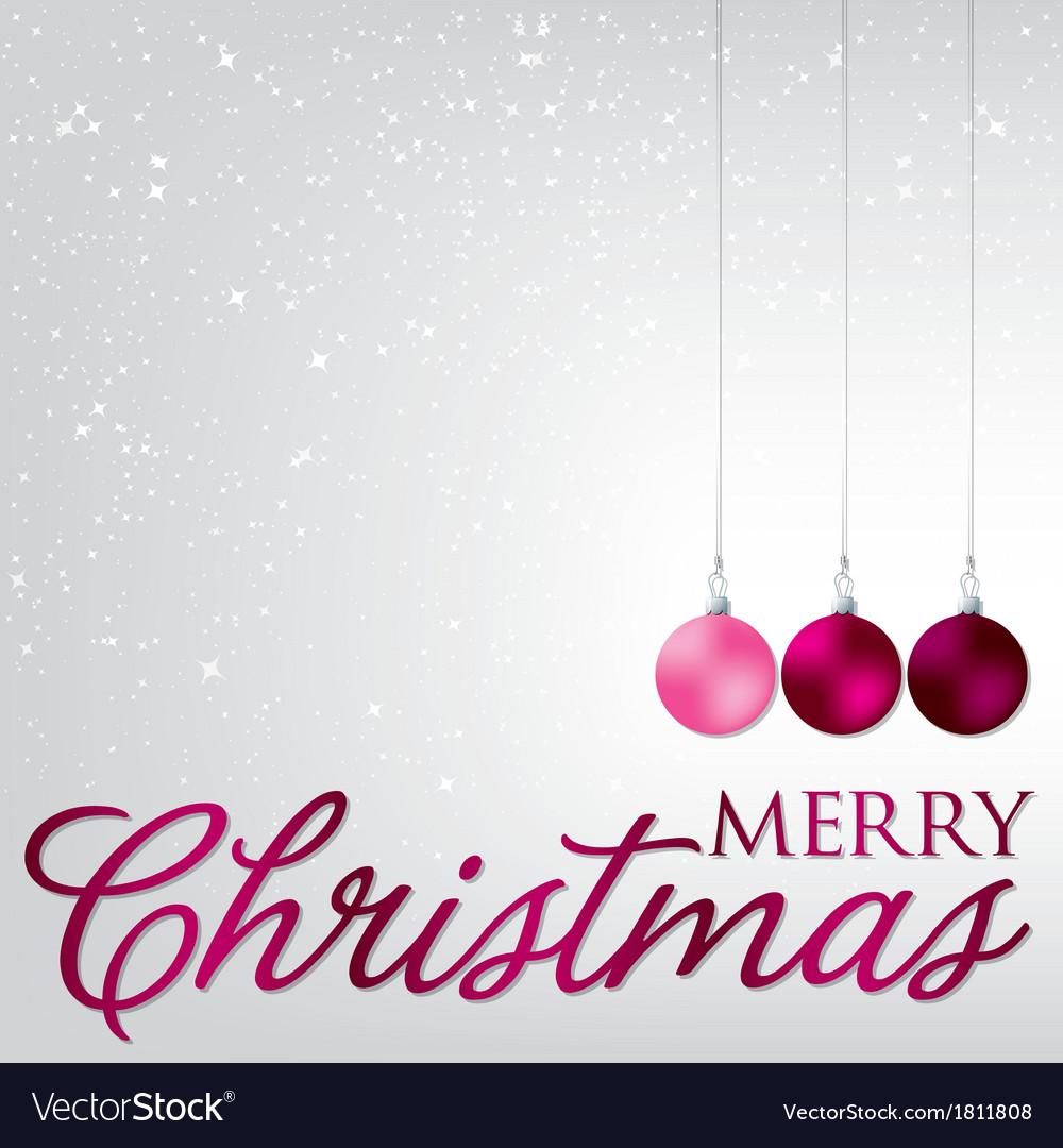 Elegant bauble christmas card in format vector   Price: 1 Credit (USD $1)