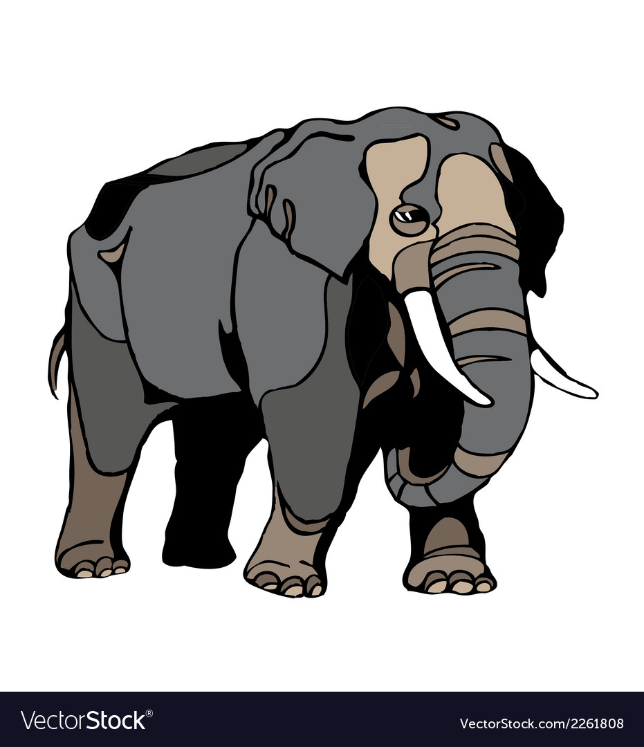 Elephant clipart vector | Price: 1 Credit (USD $1)