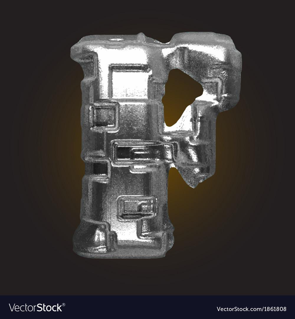 Metal figure f vector | Price: 1 Credit (USD $1)