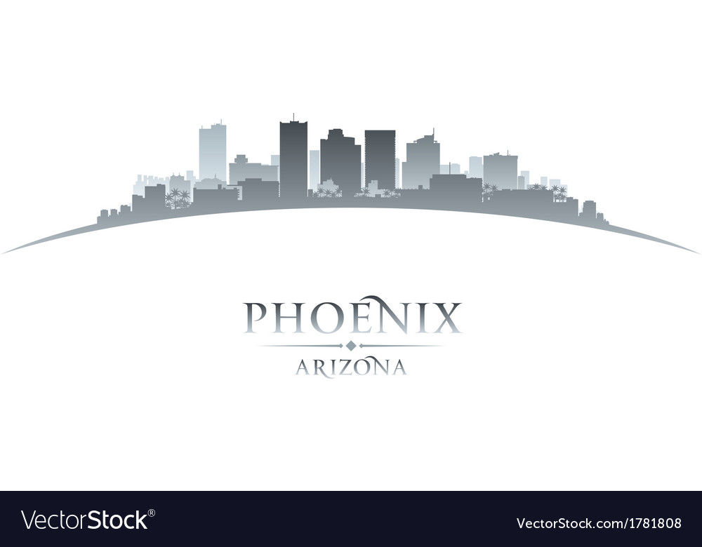 Phoenix arizona city skyline silhouette vector | Price: 1 Credit (USD $1)