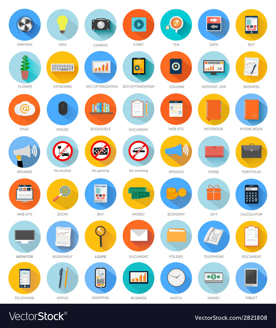Set for web and mobile applications vector | Price: 1 Credit (USD $1)