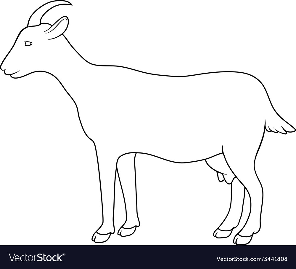 Silhouette of goat vector | Price: 1 Credit (USD $1)