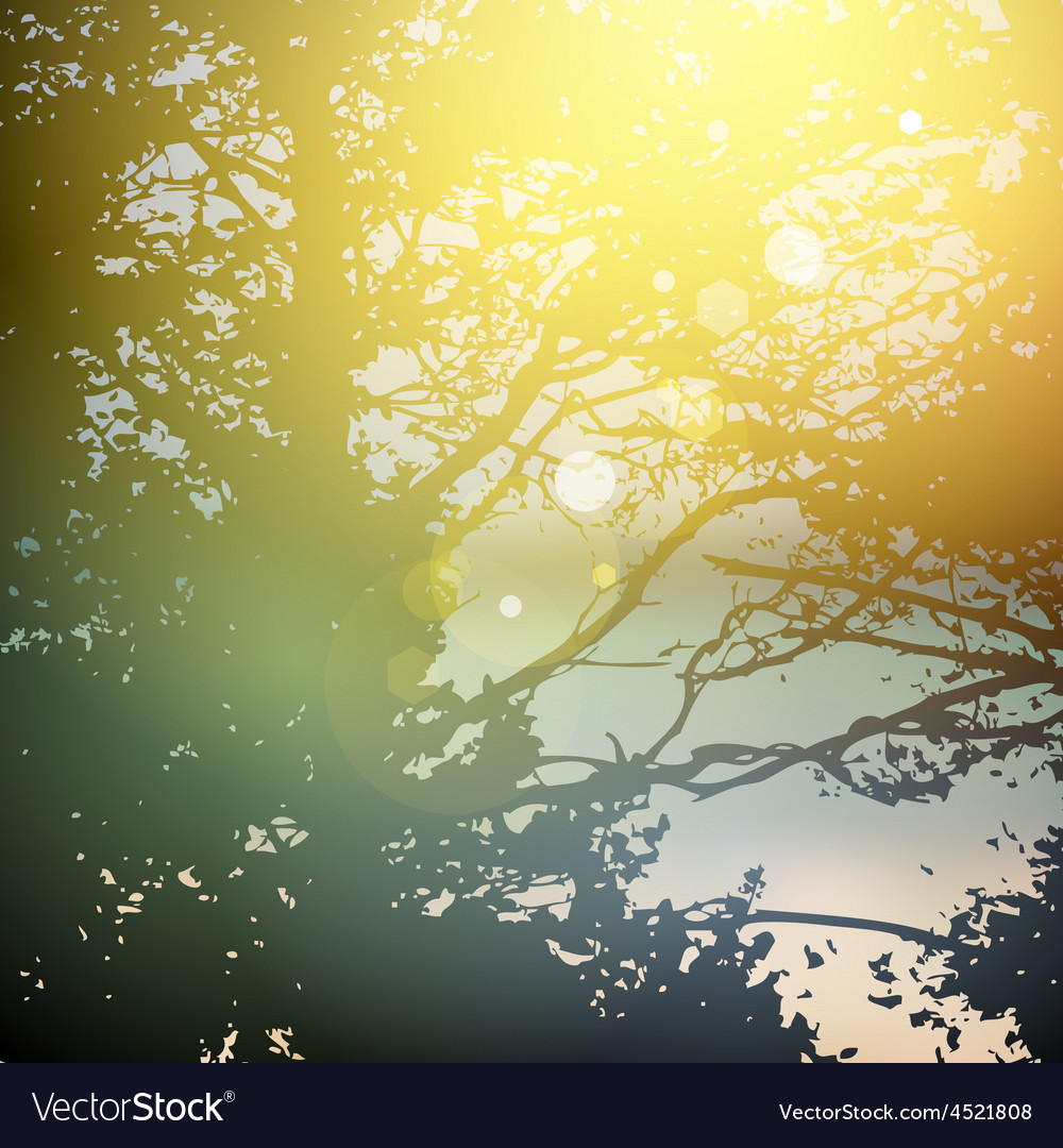 Summer design forest trees nature green wood vector | Price: 1 Credit (USD $1)