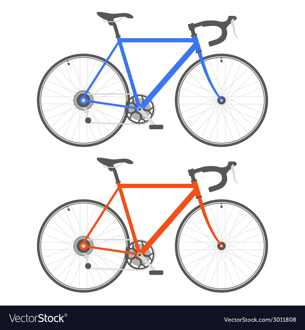 Two color bicycle on white background vector | Price: 1 Credit (USD $1)