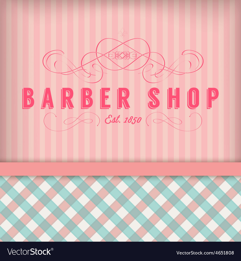 Vintage barber shop badg vector