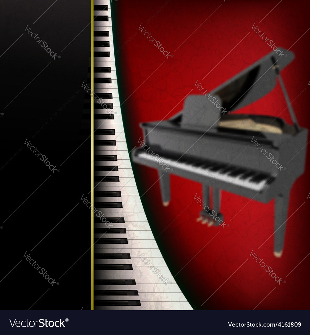 Abstract grunge music background with grand piano vector | Price: 3 Credit (USD $3)