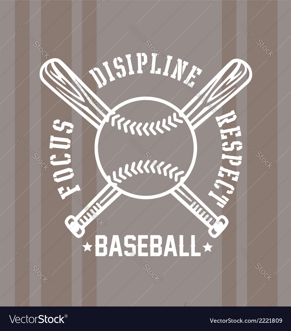 Baseball respect vector | Price: 1 Credit (USD $1)