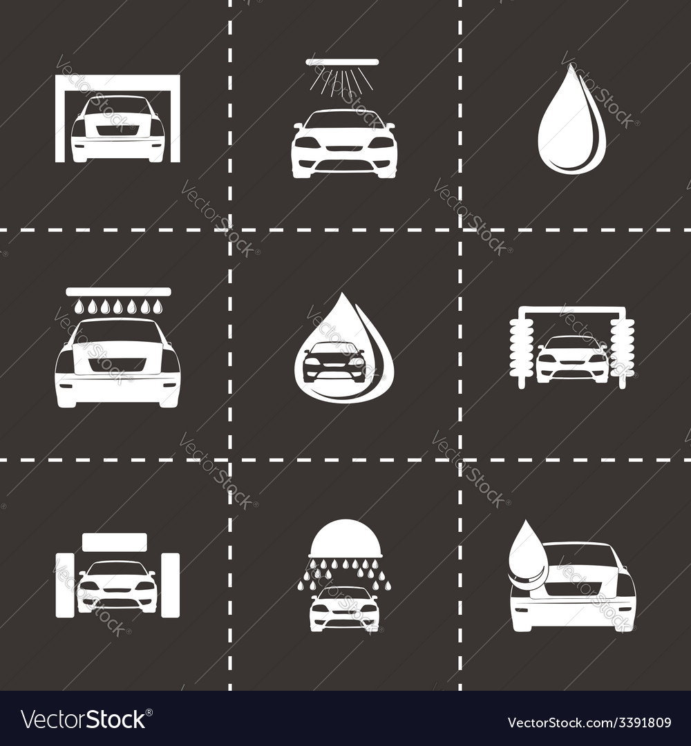 Car wash icons set vector | Price: 1 Credit (USD $1)