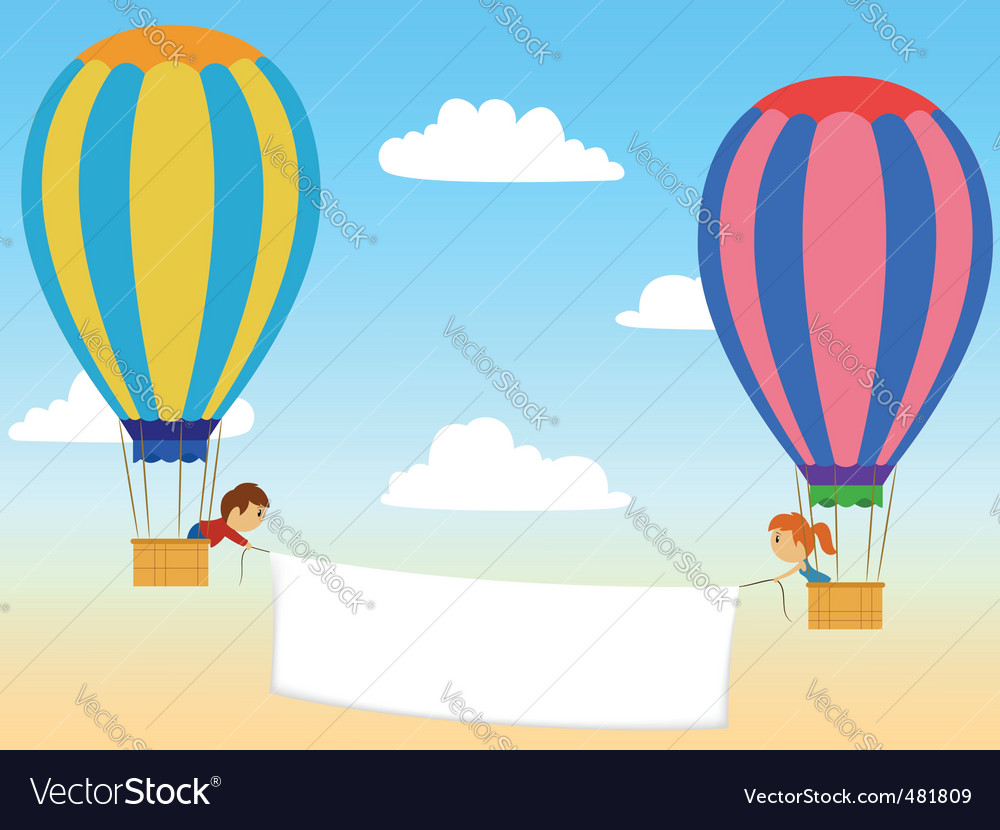 Cartoon aerostat vector | Price: 1 Credit (USD $1)