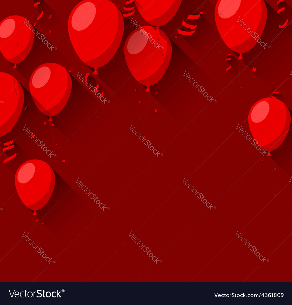 Celebrate background with flat balloons vector | Price: 1 Credit (USD $1)