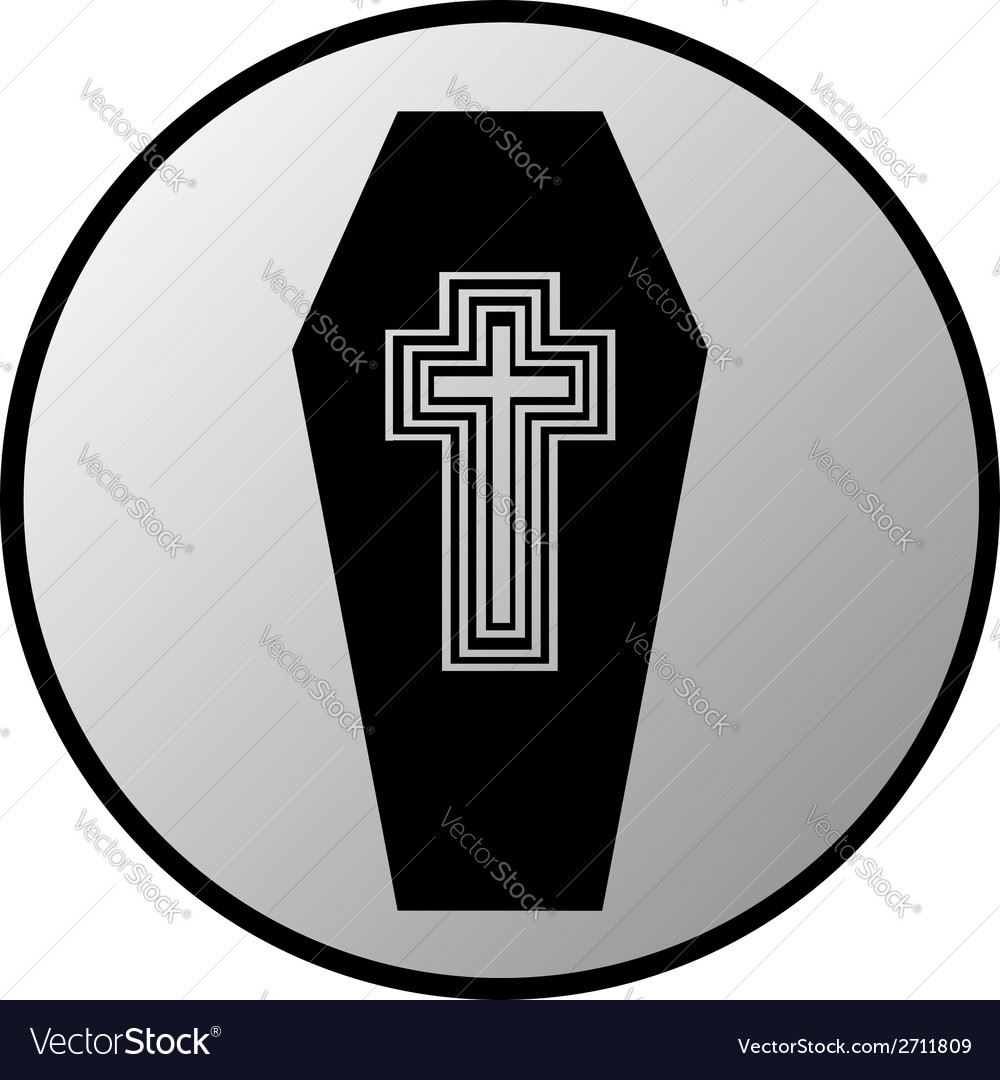 Coffin button vector | Price: 1 Credit (USD $1)
