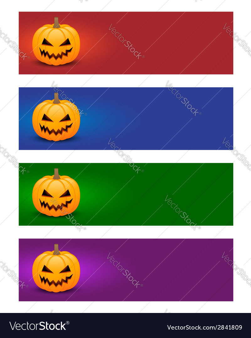 Colorful halloween banners vector | Price: 1 Credit (USD $1)