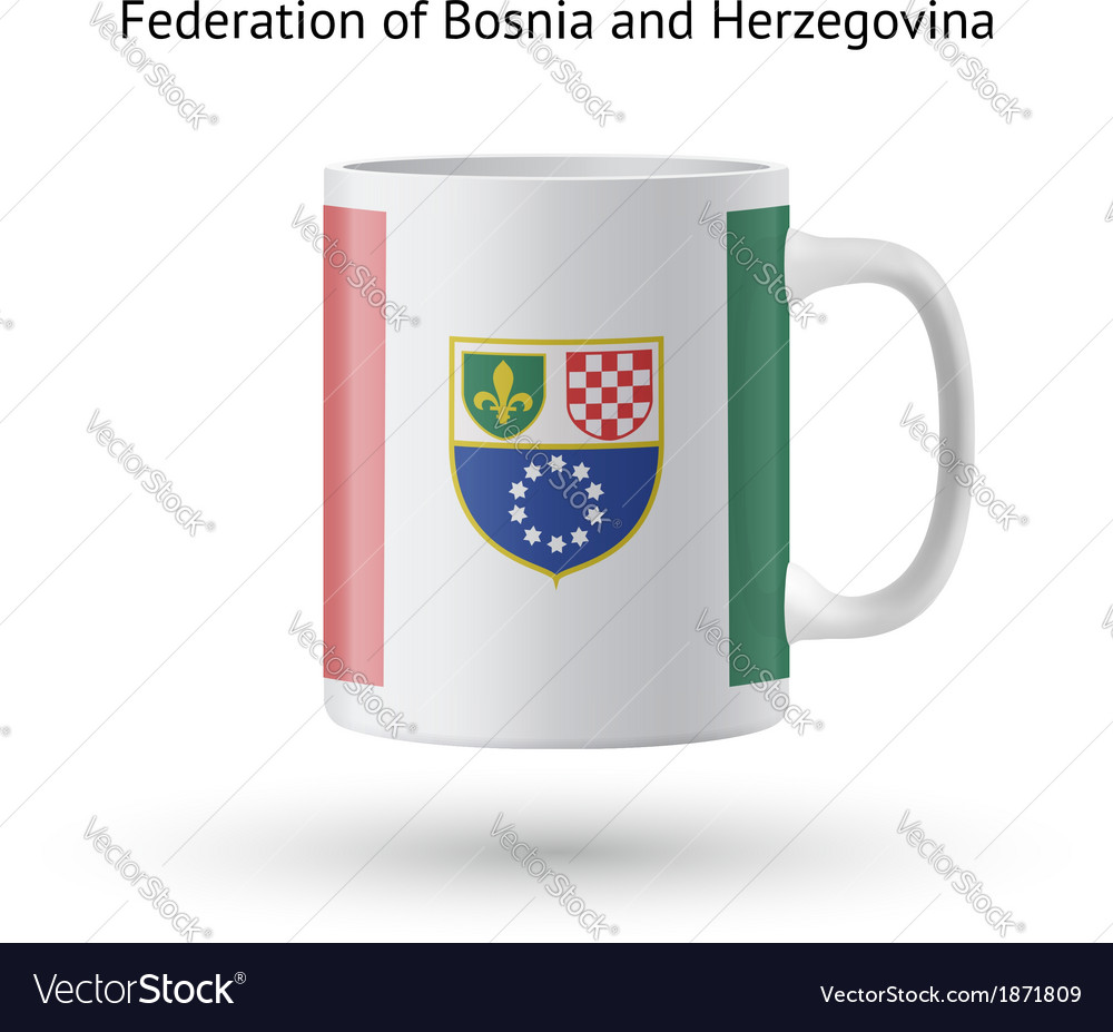 Federation of bosnia and herzegovina flag souvenir vector | Price: 1 Credit (USD $1)