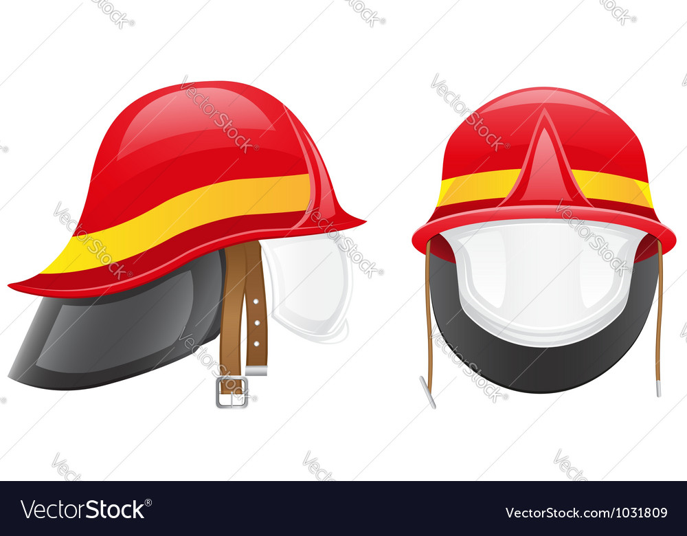 Firefighter helmet vector | Price: 1 Credit (USD $1)