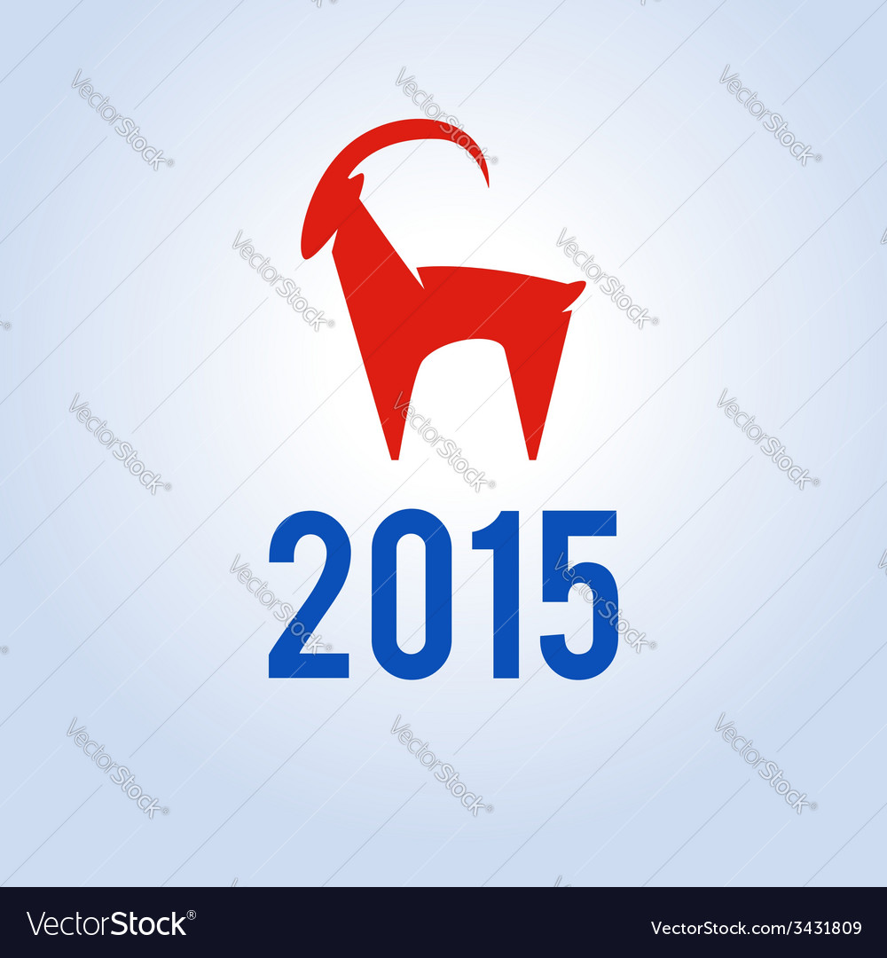 Happy new year 2015 year of goat vector | Price: 1 Credit (USD $1)