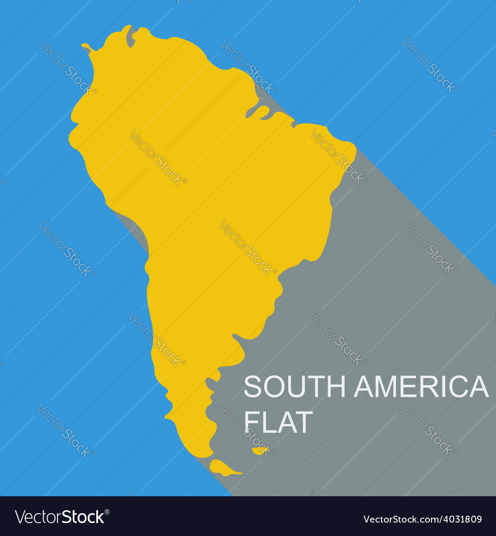 South america flat vector | Price: 1 Credit (USD $1)