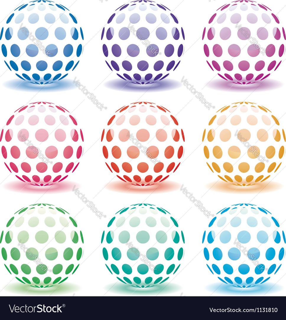3d globes vector | Price: 1 Credit (USD $1)